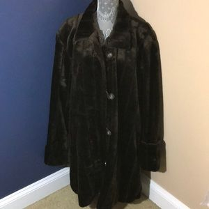 Jackets & Blazers - Faux fur coat  with pockets